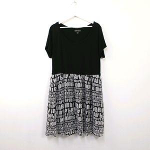 Forever 21 plus 3x babydoll letter print dress